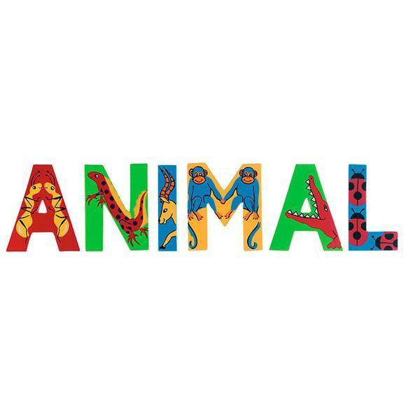Multi-coloured wooden letters - Toy Giant