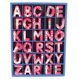 Pink wooden letters