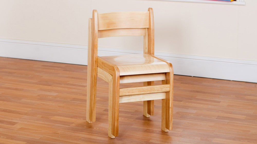 Wooden Natural chair 310mm 2 pack - Toy Giant