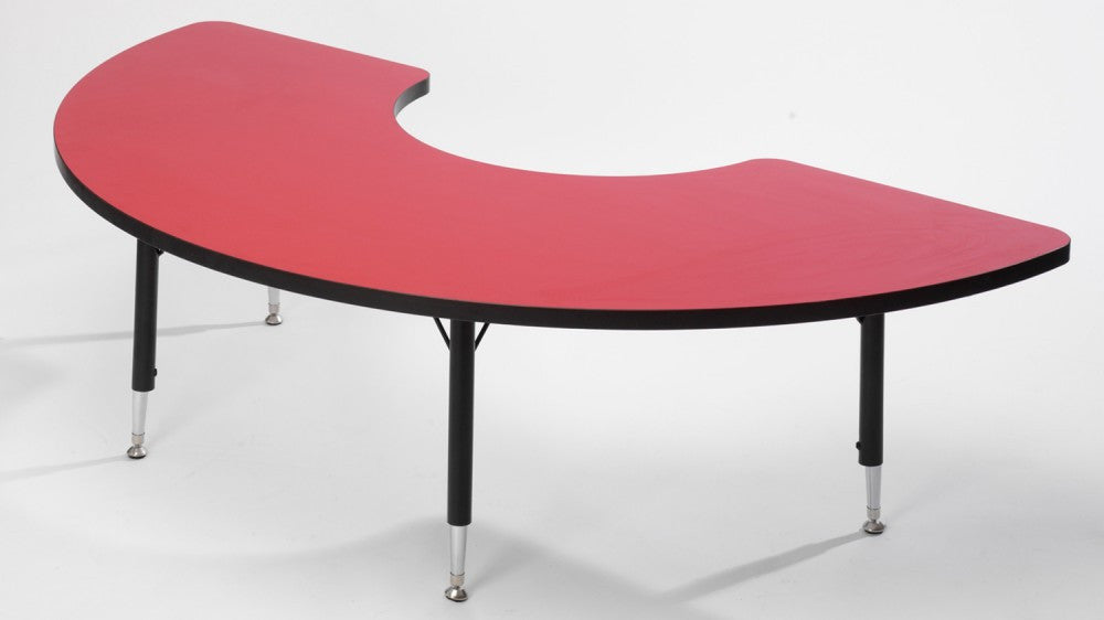 Tuf-Top Arc height adjustable table Red