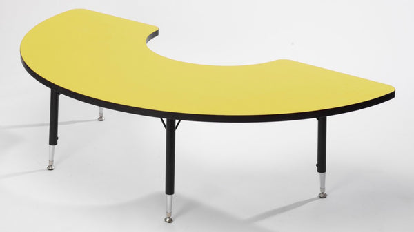 Tuf-top height adjustable ARC table YELLOW