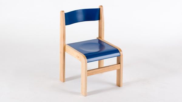 Wooden BLUE chair 310mm 2 pack Tuf Class - Toy Giant