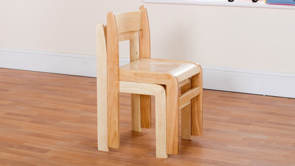 Wooden Natural chair 350mm 2 pack - Toy Giant