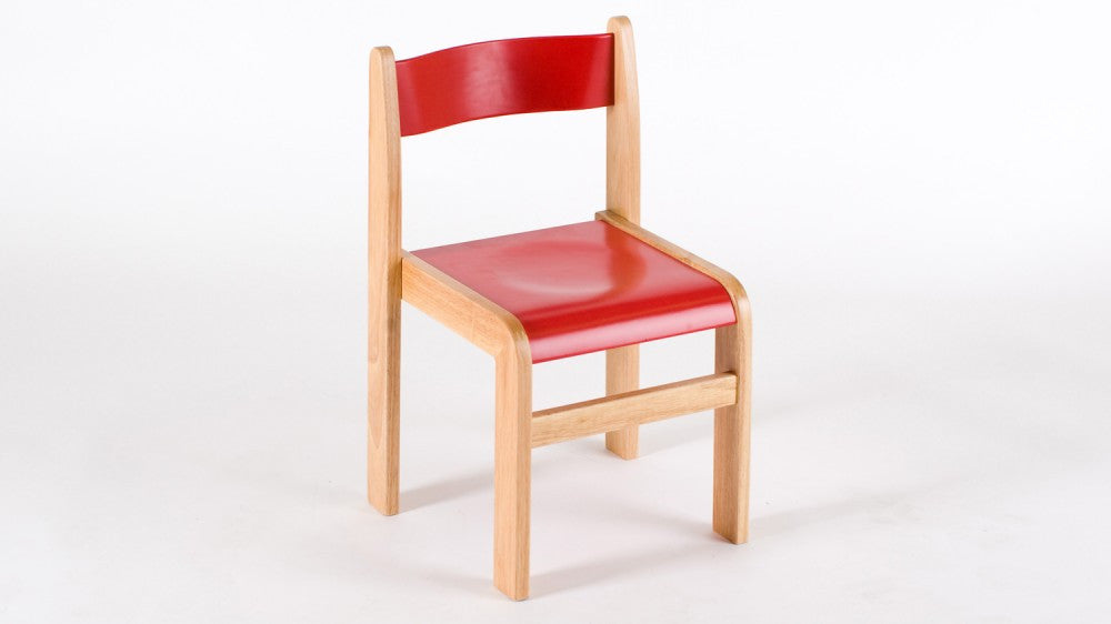Wooden RED chair 310mm 2 pack - Toy Giant