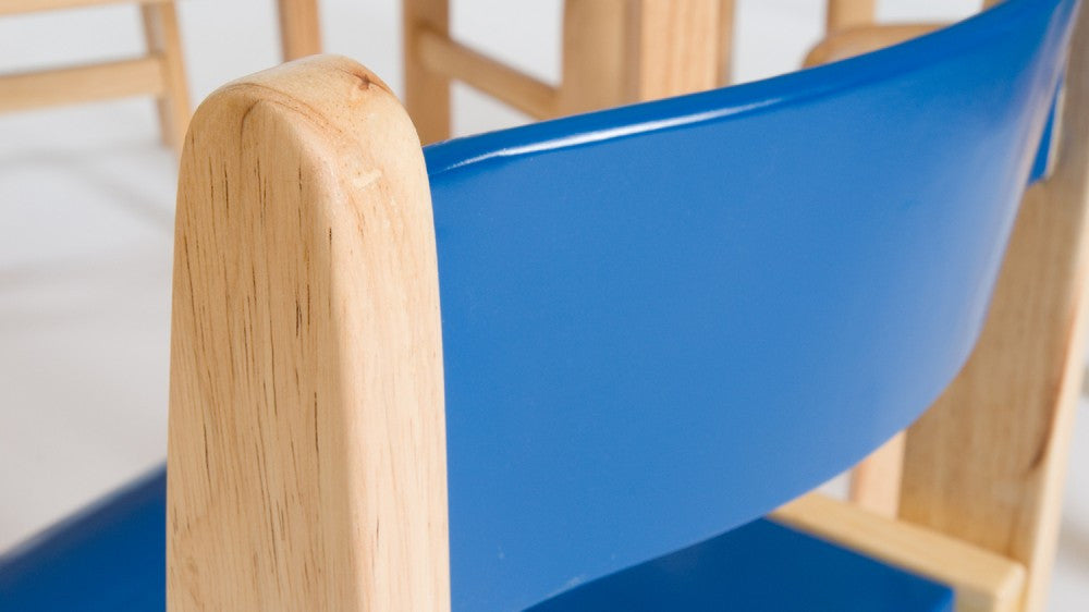 Wooden BLUE chair 380mm 2 pack - Toy Giant