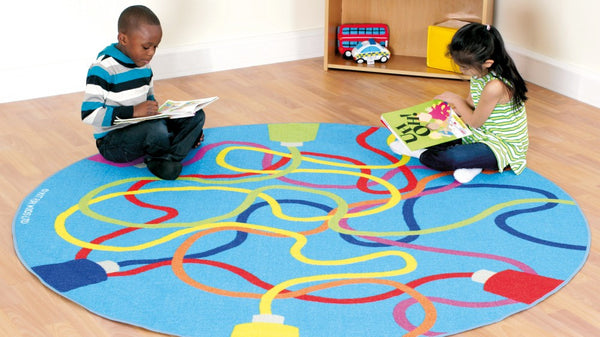 Decorative colour tubes carpet - Toy Giant