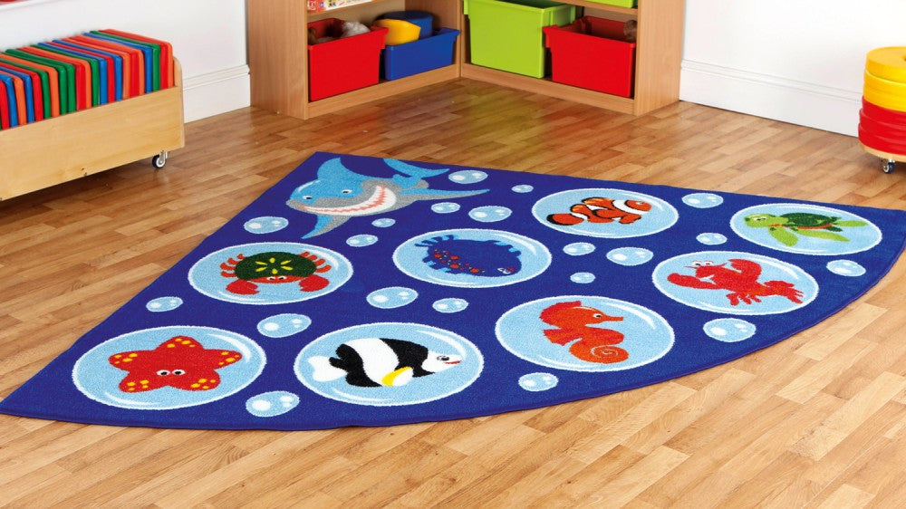 Under the sea corner placement carpet - Toy Giant