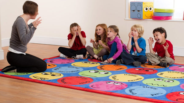 Emotions Interactive Rectangular carpet - Toy Giant