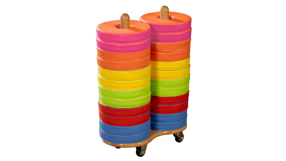 Donut Multi-Seat trolley (incl 24 coloured cushions) - Toy Giant
