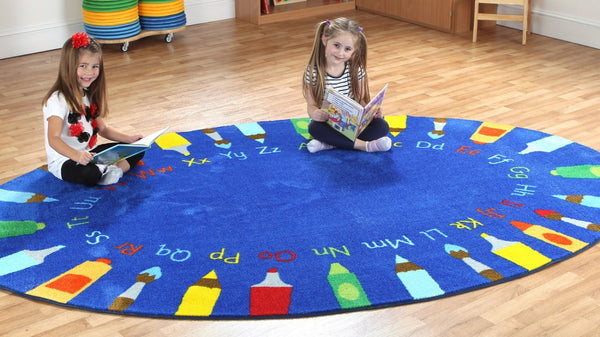 Rainbow Oval pencils Alphabet carpet - Toy Giant