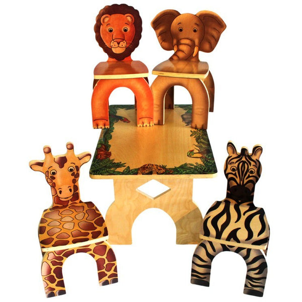 Safari Animal Table and chairs - Toy Giant