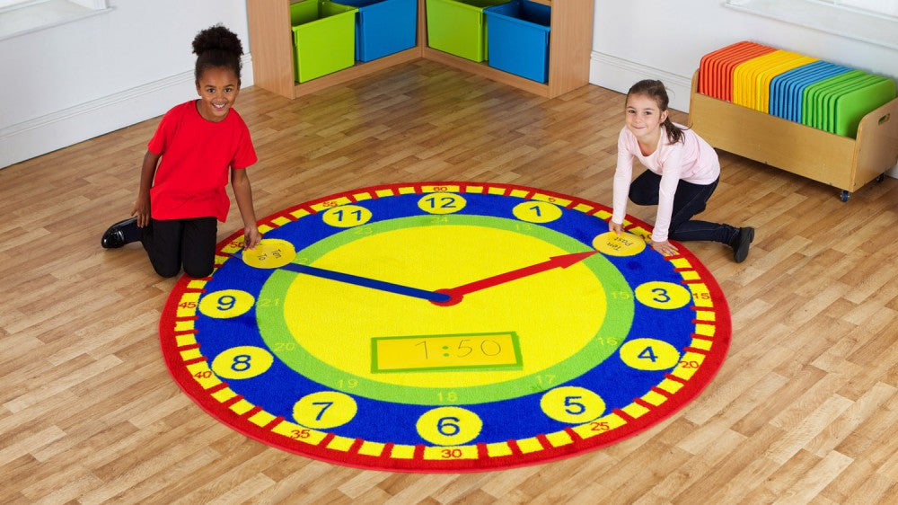 Tell the Time carpet and activity pack - Toy Giant