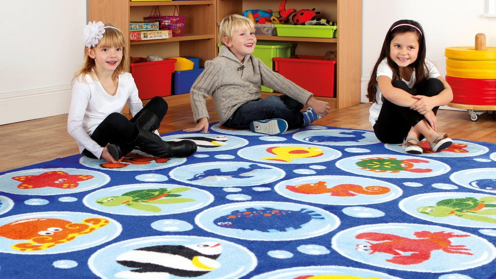Under the sea Rectangular Placement carpet - Toy Giant