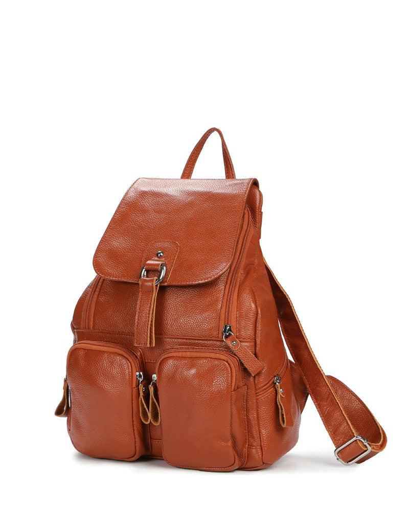 Top Cowhide Leather Bag Women Casual Backpack (Free Worldwide Shipping)