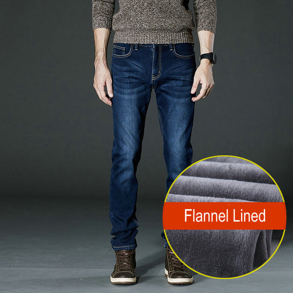 Men's Winter Flannel Lined Jean (Free Shipping)