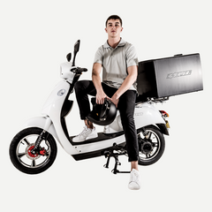 Stylish electric delivery bike