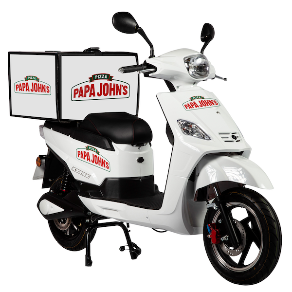 Papa Johns SR-1200d Electric Delivery Scooter