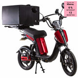 Eskuta Sx250D Eapc Electric Delivery Bike Cherry Red Scooter