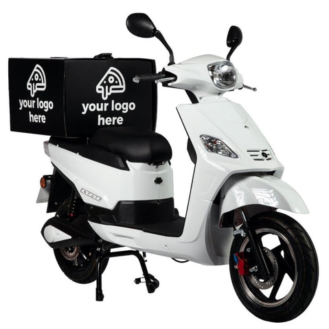 Sr-1200D Electric Delivery Scooter White