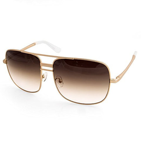 e3f6953374b AQS unisex lia square double bridge aviator sunglasses