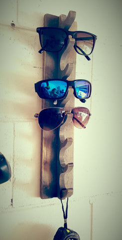 Weathered Sunglasses rack