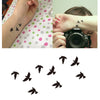 Crows Body Art Temporary Tattoo