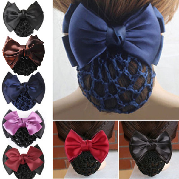 Satin Bowknot Hair Cover