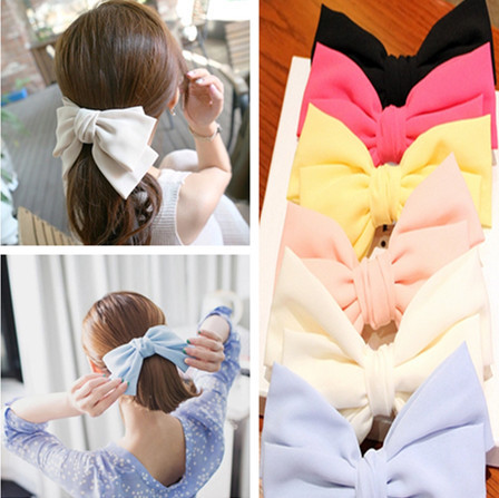 Chiffon Bow Hairclips