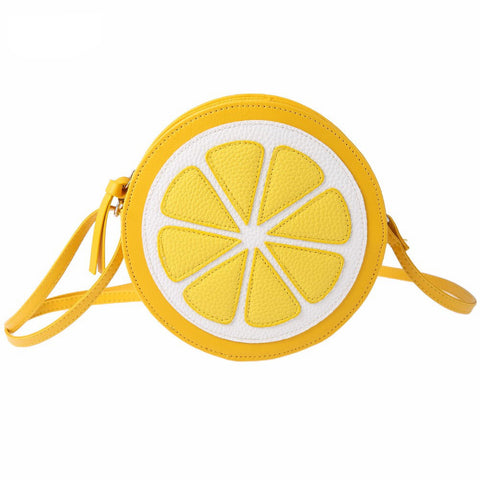 Lemon Pattern Zipper Crossbody Bags