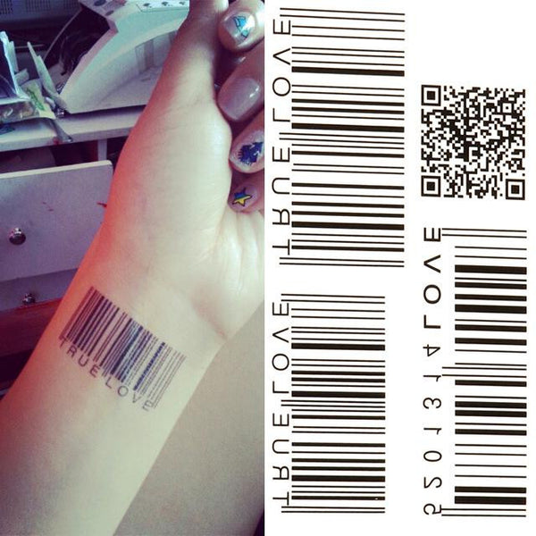 Bar Code Temporary Tattoo