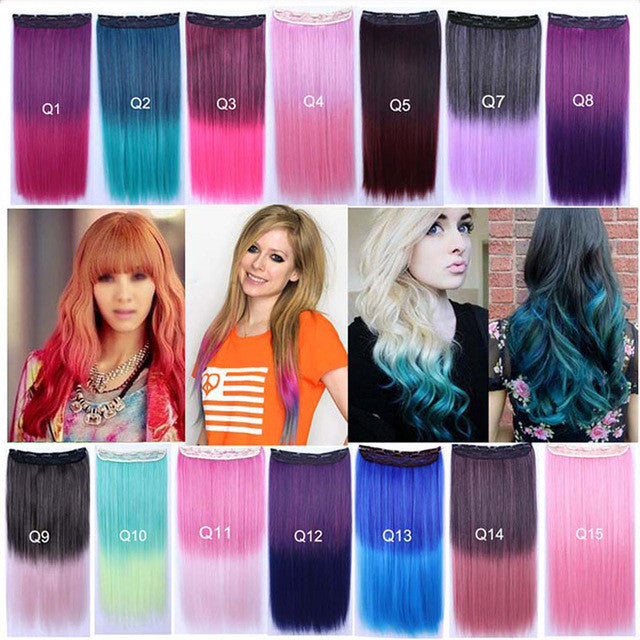 Multi colored hair extensions street stylers multi colored hair extensions pmusecretfo Images