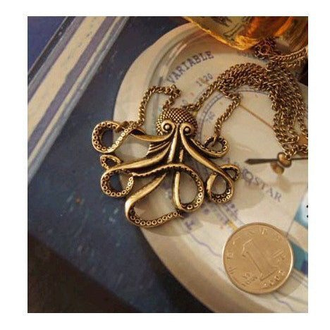 Pirates of The Caribbean Octopus Necklace