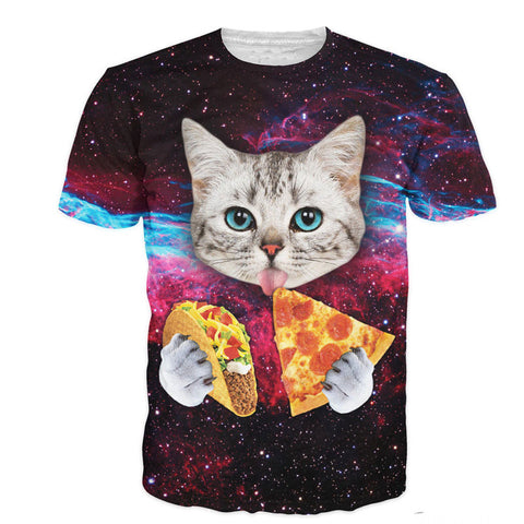 Cat Pizza Taco Universe Unisex T-Shirt