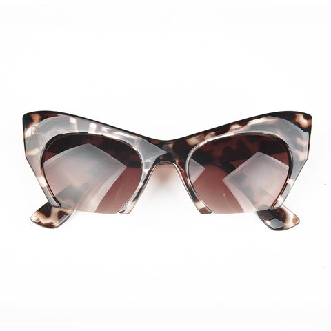 7ccf8e9751b40 Half Frame Cat Eye Sunglasses