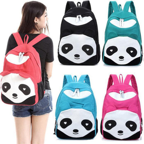Panda Bear School Bag