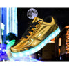 Golden LED Luminous Shoes