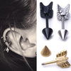Steel Arrow Stud Earring
