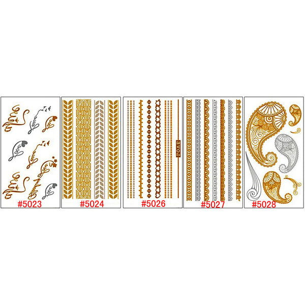 Body Art Gold Temporary Tattoos