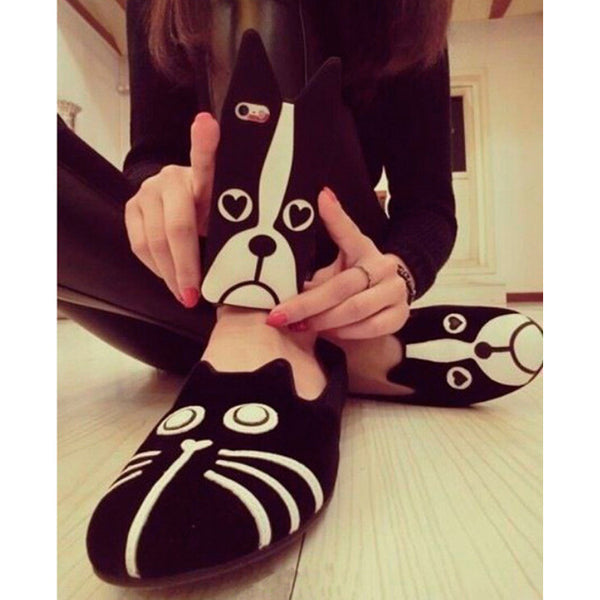 Suede Cat/Bulldog Flats