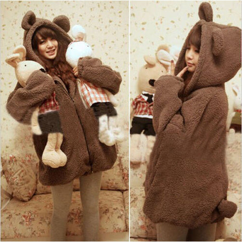 Warm Bear Coat With Ears