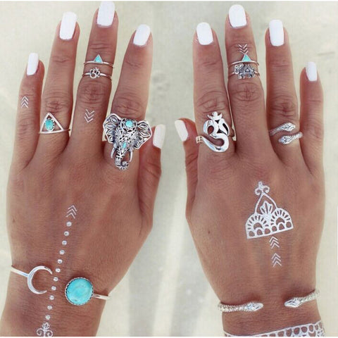Bohemian Body Art Rings