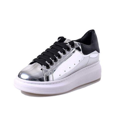 Chrome Round-Toe Shoes
