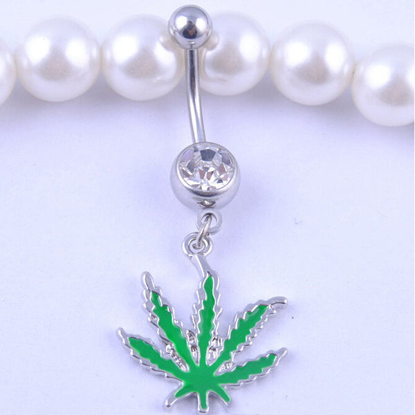 420 Green Belly Ring
