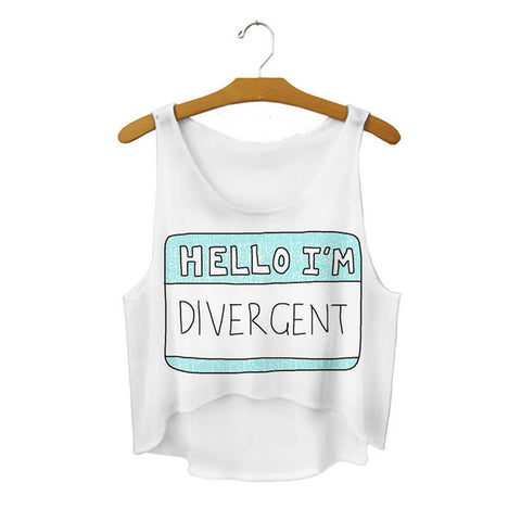 Hello I'm Divergent Crop Top
