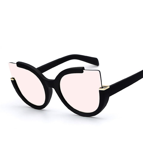 Pink & Black Cat Eye Sunglasses