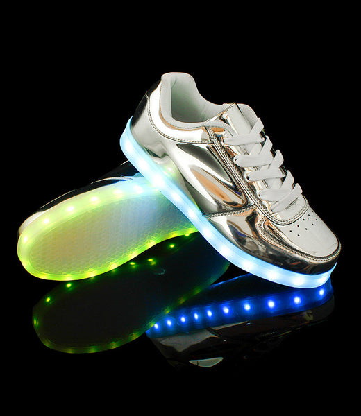 Silver LED Luminous Shoes
