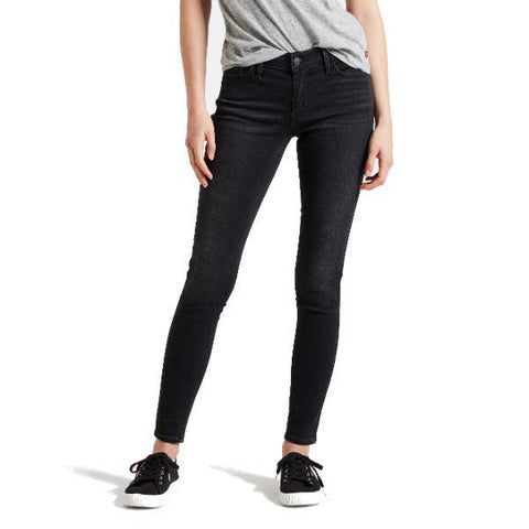 710 Innovation Super Skinny Jeans in Freak Out Black Jeans Levi's Women's
