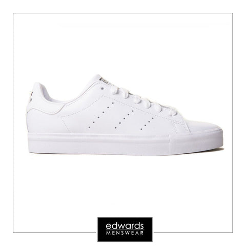 Adidas Stan Smith Vulc Triple White Leather Trainers