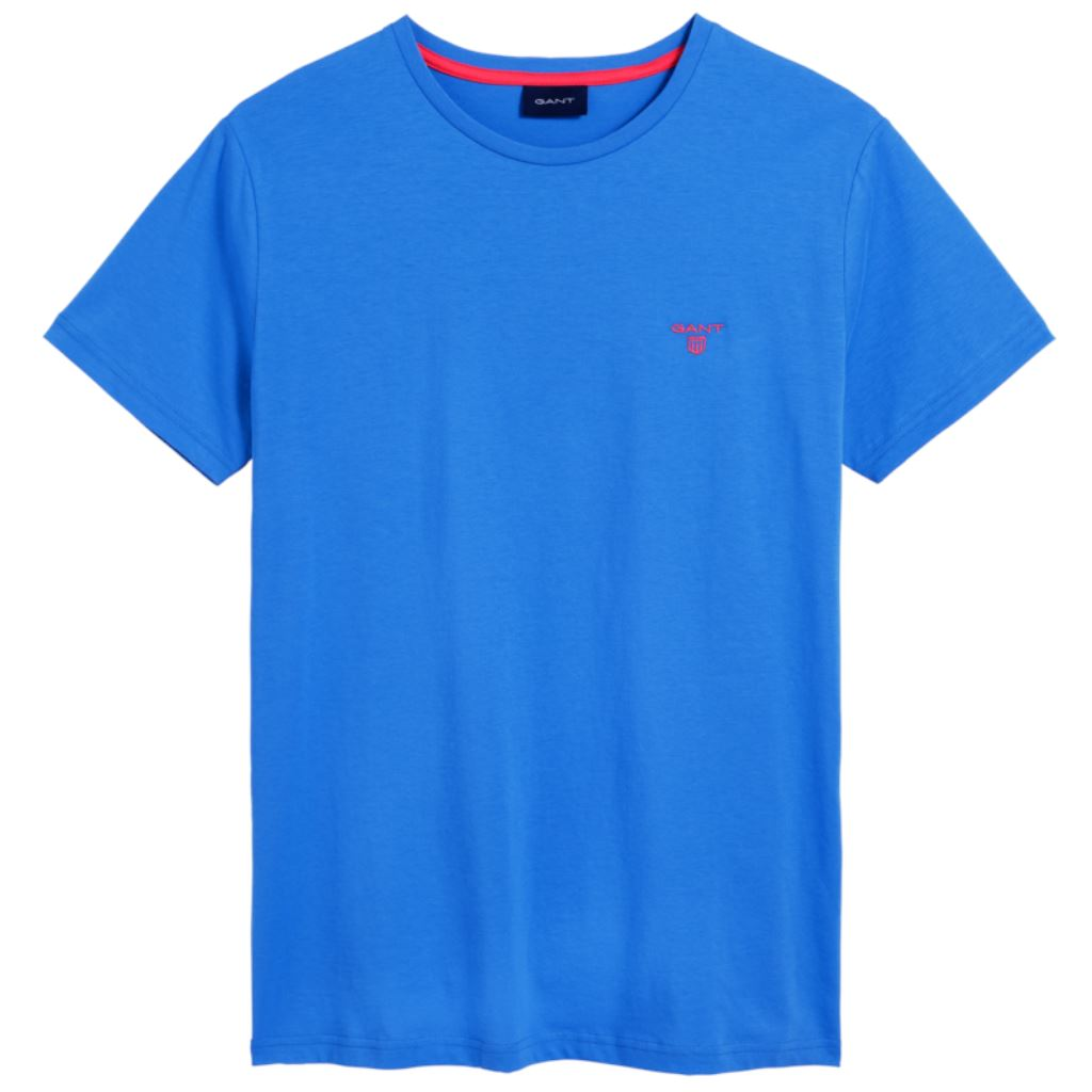 Gant Contrast Logo T-Shirt in Palace Blue T-Shirts Gant