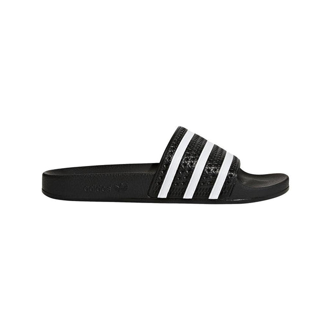 adidas 280647 Adilette Sliders in Black/ White Shoes adidas